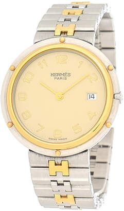 Hermes Stainless Steel Clipper Watch - Vintage