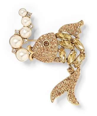 Banana Republic Jeweled Fish Brooch