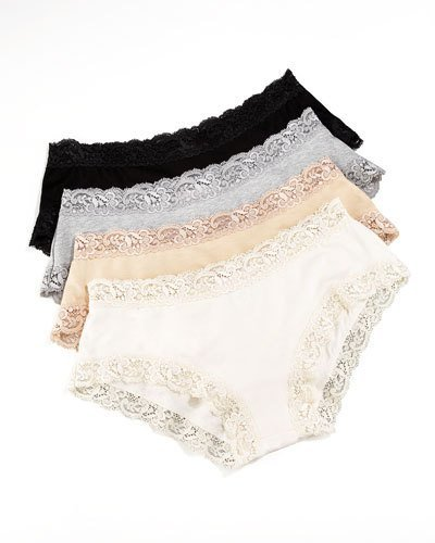 """Fleur't Top Drawer """"Perfect Panty"""" with Lace Trim"""