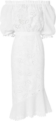 Saloni Grace Anglaise Cotton Dress $650 thestylecure.com
