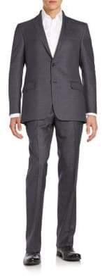 Hickey Freeman Regular-Fit Tonal Stripe Wool Suit