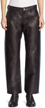 Junya Watanabe Women's Faux Leather Front Jeans