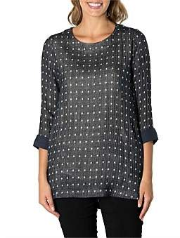 Marc O'Polo Marco Polo 3/4 Sleeve Mini Square Tunic