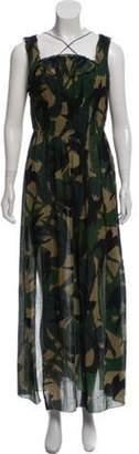 Sonia Rykiel Printed Maxi Dress Green Printed Maxi Dress