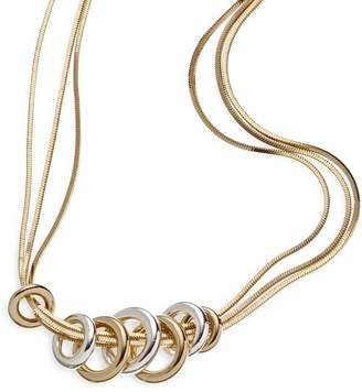 Napier Two Tone Bands Necklace