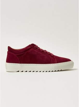 Topman Mens Red Burgundy Suede Upper Astro Lace Trainers