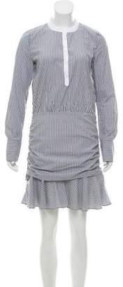 Veronica Beard Striped Long Sleeve Dress