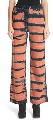 Eckhaus Latta Tie Dye Wide Leg Jeans