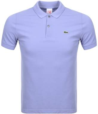 Lacoste Live Ultra Slim Polo T Shirt Lilac