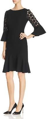 Elie Tahari Bri Crochet Sleeve Dress
