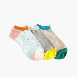 J.Crew Ankle socks three-pack in Donegal tweed colorblock