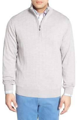 Bobby Jones Windproof Merino Wool Quarter Zip Sweater