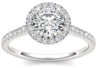 Imperial Diamond Imperial 1-1/4 Carat T.W. Diamond Single Halo 14kt White Gold Engagement Ring