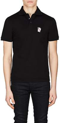 Saint Laurent Men's Playing Card Cotton Polo Shirt