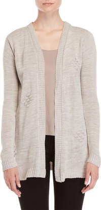 Absolutely By Creative Worldwide Ribbed Open Cardigan