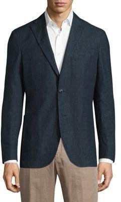 BoglioliBoglioli Micro Plaid Wool Blazer