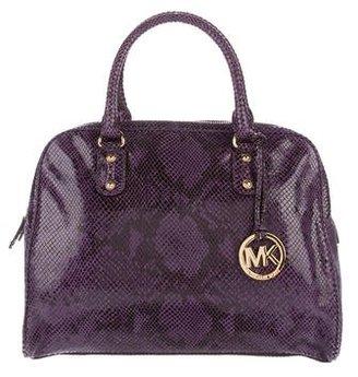 Michael Michael Kors Embossed Leather Satchel $95 thestylecure.com