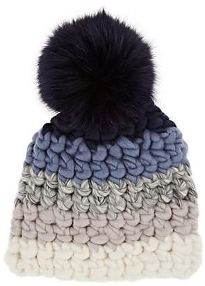 Mischa Lampert Kids' Striped Wool Beanie - Blue