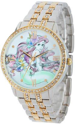 Disney The Little Mermaid Womens Two Tone Bracelet Watch-W001828