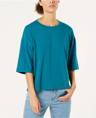 Eileen Fisher Organic Cotton Elbow-Sleeve Top, Regular & Petite