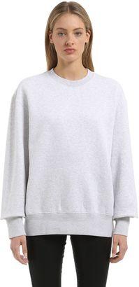 Crewneck Heather Cotton Sweatshirt $300 thestylecure.com
