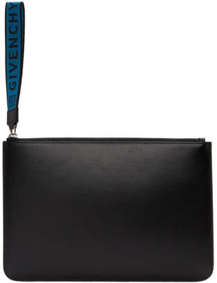 Givenchy Black Coated Large Pouch