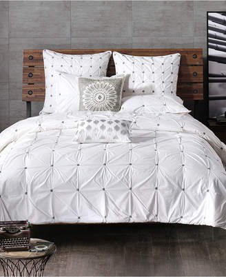 Ink+ivy Ink+Ivy Masie Embroidered Ruched Full/Queen Comforter Mini Set Bedding