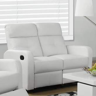 Monarch Specialties Monarch Reclining Love Seat Brown Bonded Leather
