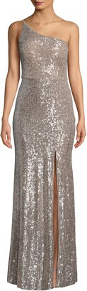 Xscape Evenings One Shoulder Sequin Evening Dress