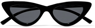 Le Specs Adam Selman The Last Lolita Cat-eye Acetate Sunglasses - Black