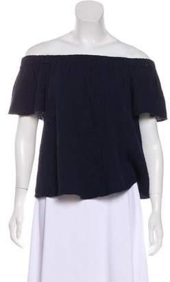 Rebecca Taylor Off-The-Shoulder Short Sleeve Top