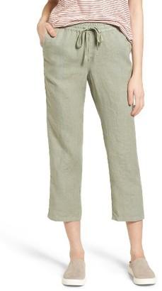 Women's Caslon Linen Crop Pants $55 thestylecure.com