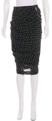 Boy By Band Of Outsiders Print Knee-Length Skirt