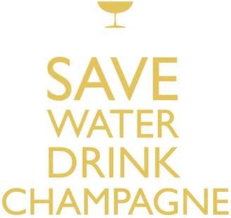 "Paper Products Save Water Drink Champagne"" Paper Cocktail Napkins"