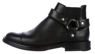 Saint Laurent Leather Harness Ankle Boots