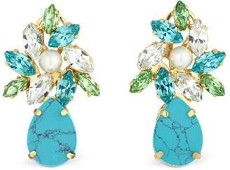Shourouk Comet Turquoise Earrings