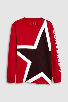 Next Boys Converse Star Long Sleeve T-Shirt