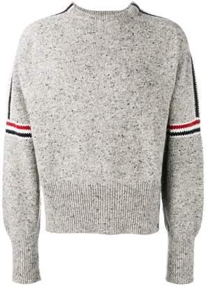 Thom Browne Intarsia Stripe Classic Tweed Pullover