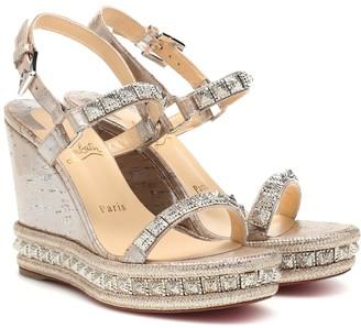 Christian Louboutin Pyradiams 100 wedge sandals