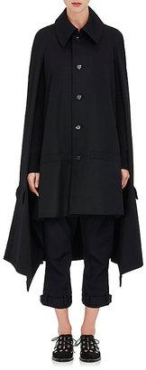 Yohji Yamamoto Women's Wool Twill Cape-BLACK $1,369 thestylecure.com