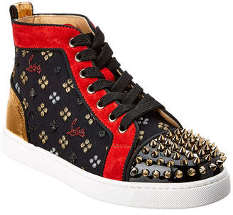 5e3f0eb64f85 Christian Louboutin Lou Spikes Orlato High Top Leather Sneaker