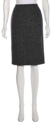 Christian Dior Wool Knee-Length Skirt
