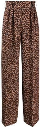 Sara Battaglia animal print trousers