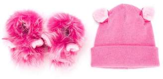 UGG booties and hat set