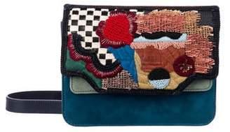 Solea Ioanna Embroidered Dragonfly Flap Crossbody Bag