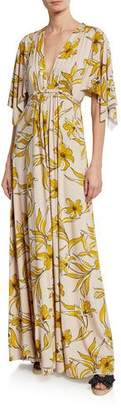 Rachel Pally Lily-Print Caftan Maxi Dress