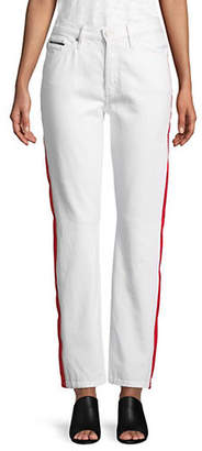 Calvin Klein Jeans High-Rise Straight Taped Jeans