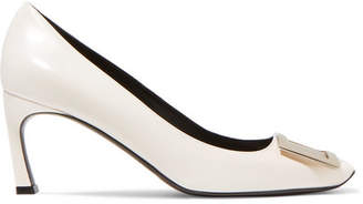 Roger Vivier Belle Vivier Trompette Leather Pumps - White