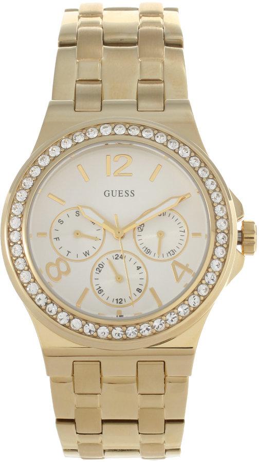 Guess Gold Plate Steel Bracelet Watch