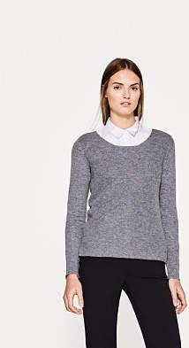 Esprit Jumper and a ribbed front, cashmere blend